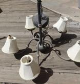5 light chandelier black