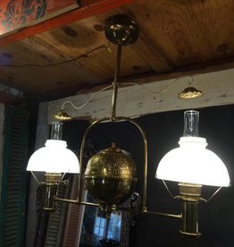 Brass Gas Lamp Chandelier