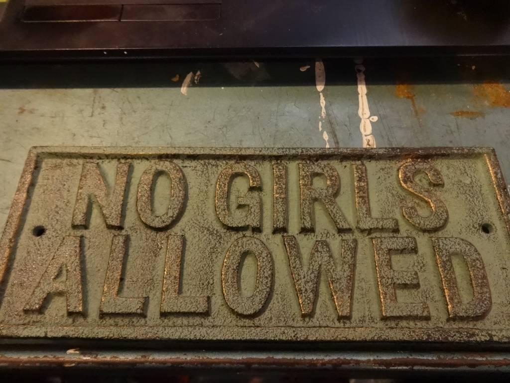 No Girls Allowed Plaque
