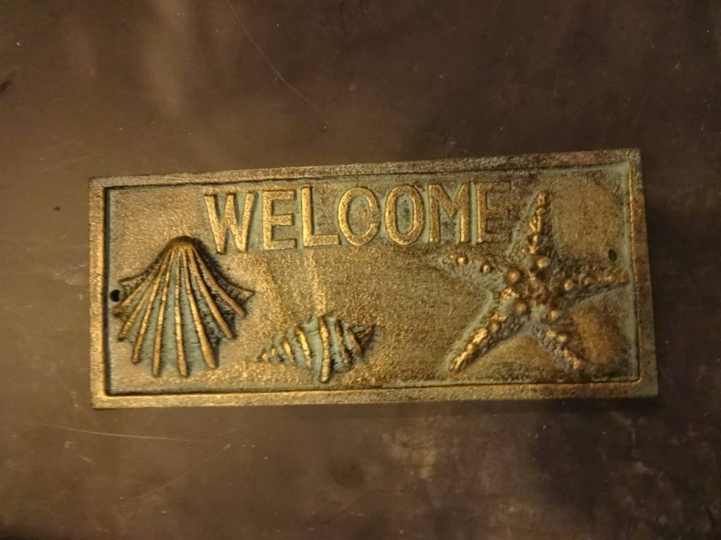 Welcome Iron Plaque