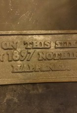 On This Site In 1897 Iron Plaque
