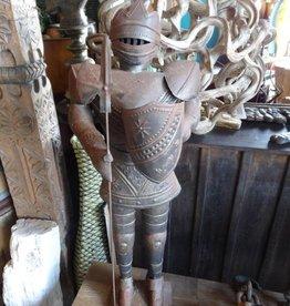 """Medium Tin Knight on Stand 36"""""""