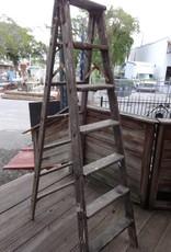 6 Ft. Vintage Wooden Ladder
