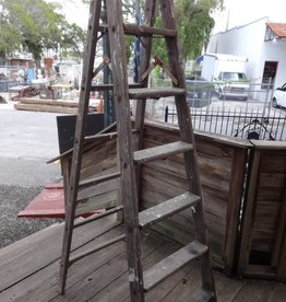 6 Ft. Vintage Wooden Ladder