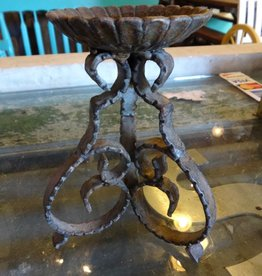 Iron Scroll Candle Stand