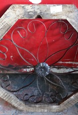 Octagon Pesaro Tin and Wood Window Panel