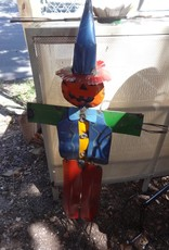 Large Tin Scarecrow w/ Pumpkin Head 43x24