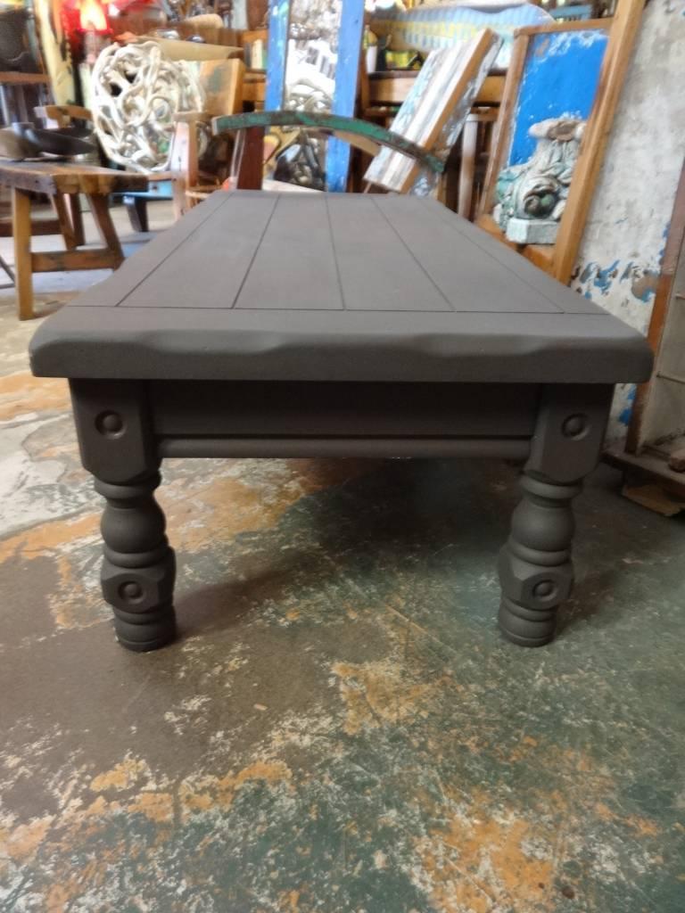 Grey Live Edge  Slat Coffee Table