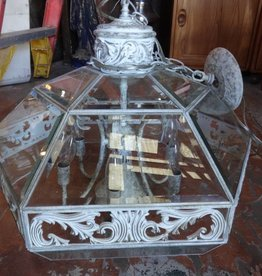 White Shabby Pendant Polygon Chandelier