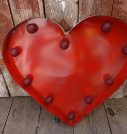 Lg Tin Heart w/ Lights