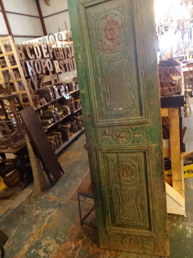Egyptian Green Carved Door