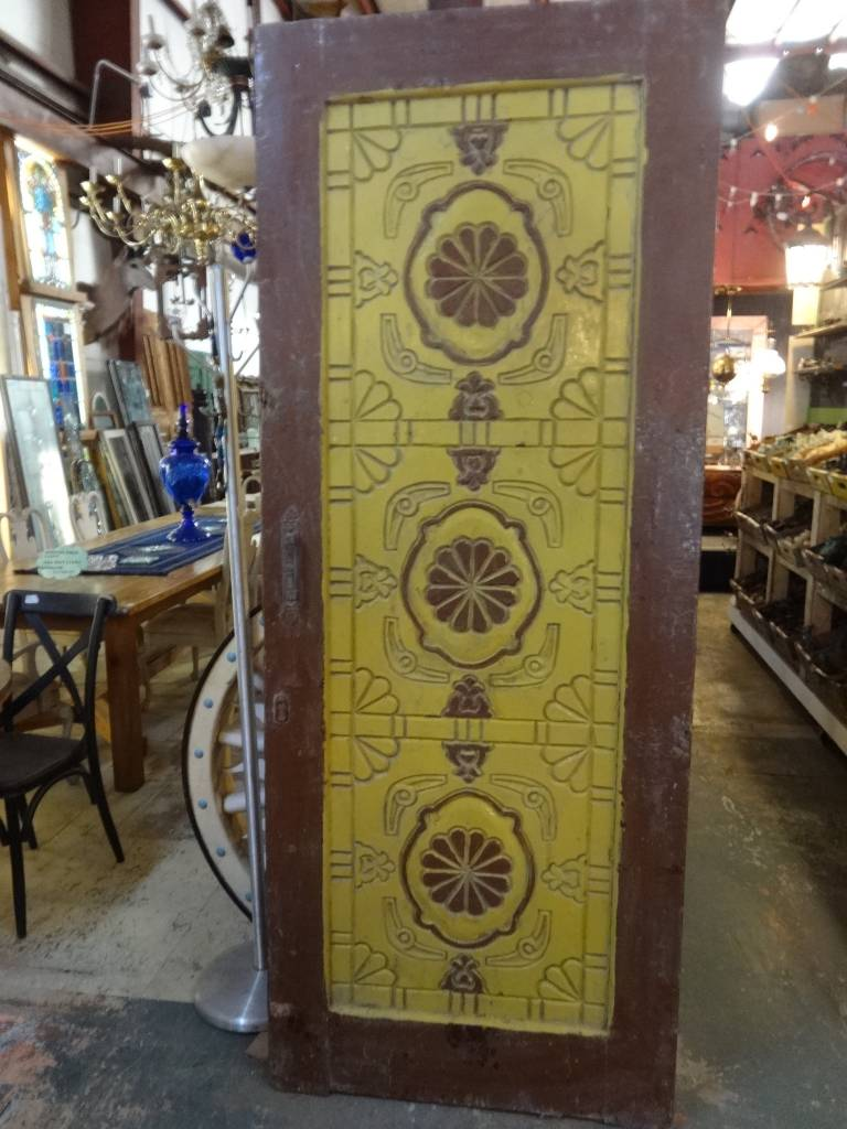 Egyptian Hand Carved Door Yellow