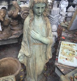 Large Green Mary Statue