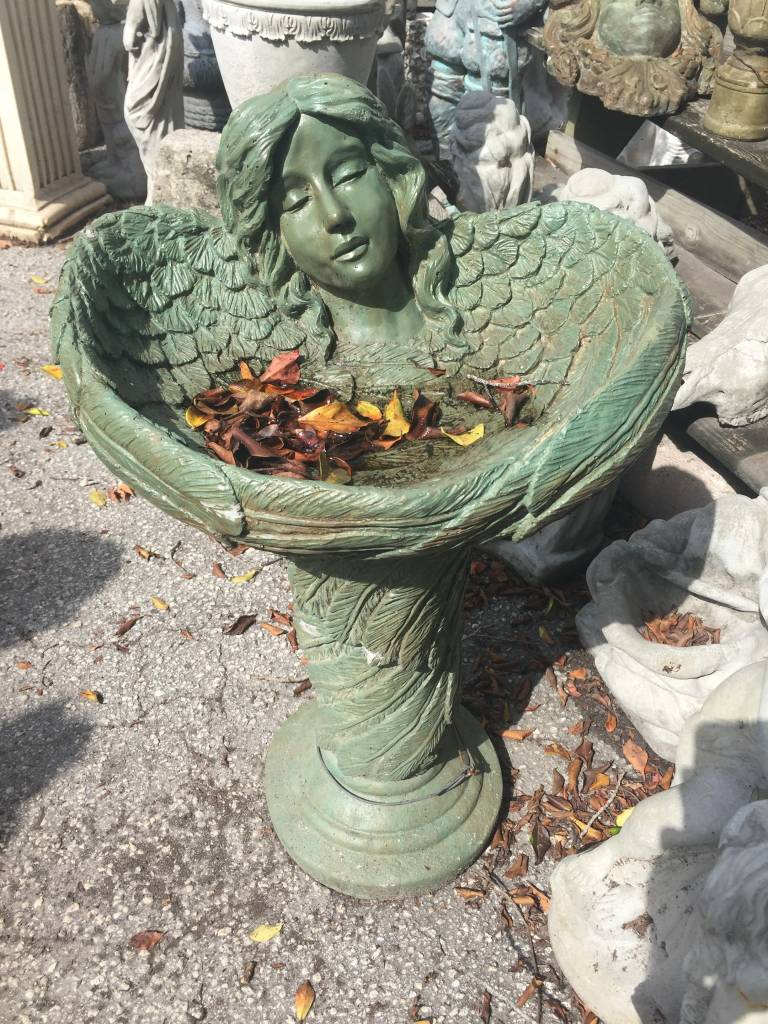 Green Angle Bird Bath