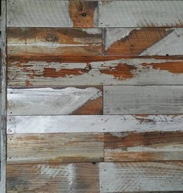 Salvaged Wood Art Panel 19X19