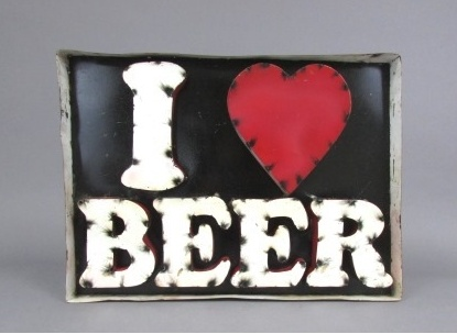 I Love Beer Sign
