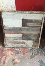 Salvaged Wood Art Panel 25x25