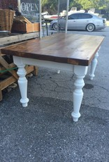 Pine Dining Table w/ White Base 66x35x31.5