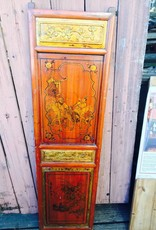 Chinese Painted and Carved Window Panel
