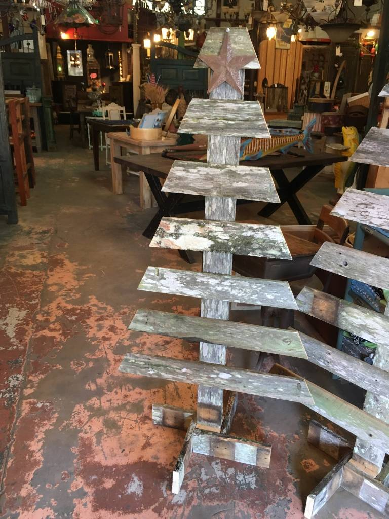 5 Foot Reclaimed Cypress Tree Display