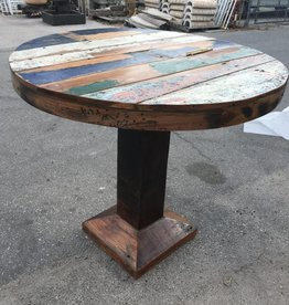 Teak Round Pub Table 43x47