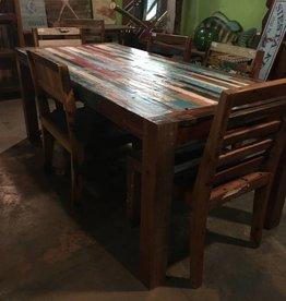 Teak Finger Slat Dining Table 79x35