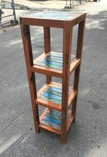 Teak 4 Shelve Bathroom Rack