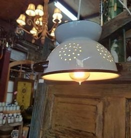 VIntage White Strainer Light