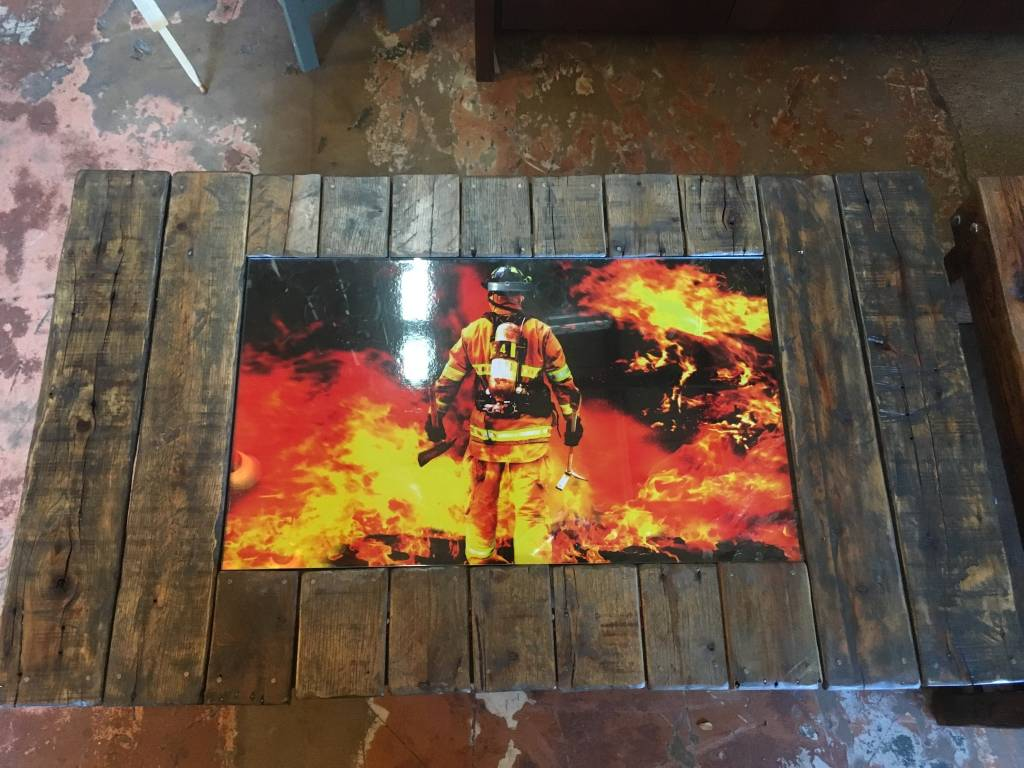 Fireman Reclaimed Coffee Table