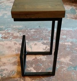 Black Base Grey Cypress Stool