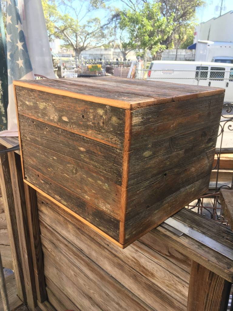 Reclaimed Cypress Panel Box