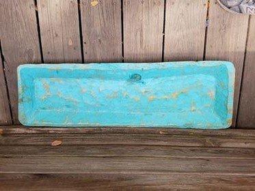 Large Blue Wooden Bowls