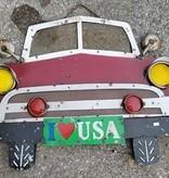 Car Front Tin Sign