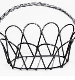 Medium White Adare Hanging Basket