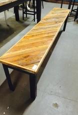 6' Angled Cypress Panel Modern Bench