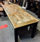 "7' x 30"" Angle Cut Cypress Panel Modern Table"