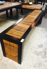 5' Slat Cypress Panel Modern Bench