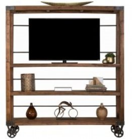 Reclaimed Pine Industrial Bookshelf