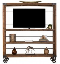 Reclaimed Pine Industrial Bookshelf