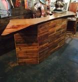 Camphor Live Edge Slab w/ Cypress Panel Bar