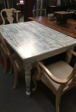 Blue and White knockdown table shabby distressed
