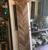 19x92 Cypress Chevron Pattern Panel