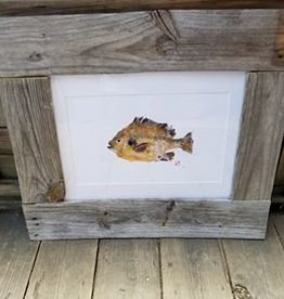 Reclaimed Wood Frame Blue Gill Painting