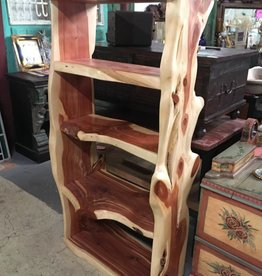 5 Tier Live Edge Cedar Shelve Unit