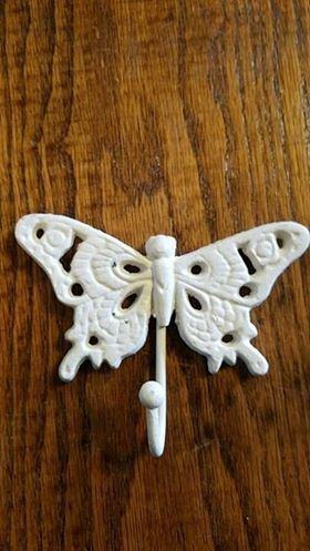 White Butterfly Single Hook