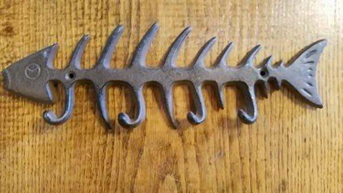 Rust Fish Bone Hook