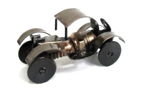 Old School Spark Plug Car