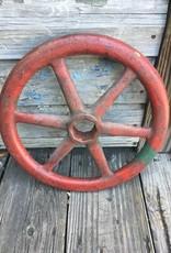 Red Iron Hand Wheel