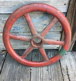 Red Iron Hand Wheel