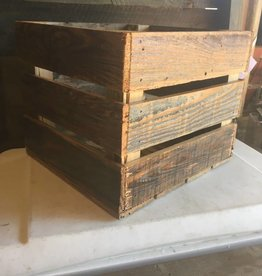 Reclaimed Cypress Crate 10.5x12x13